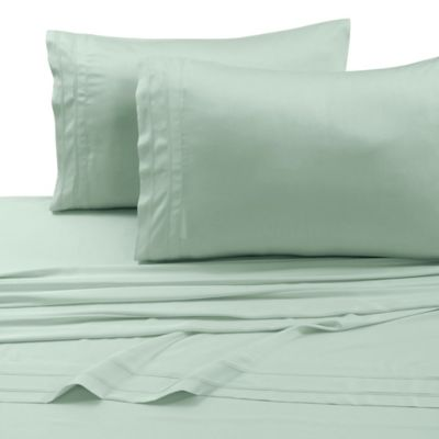 tribeca living rayon made from bamboo queen sheet set in sage