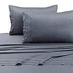 Tribeca Living 300-Thread-Count Rayon Made From Bamboo King Sheet Set in Steel
