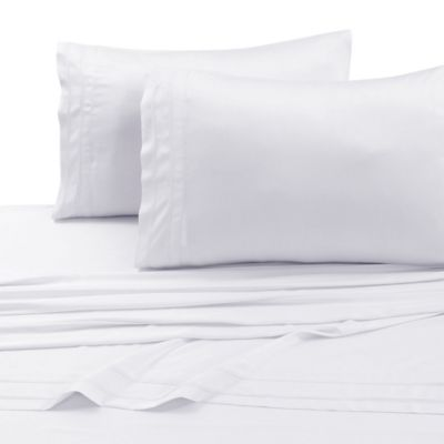 Tribeca Living 300 Thread Count Rayon Made From Bamboo King Sheet Set In White