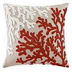 Madison Park Coral Reef Linen 20-Inch Square Throw Pillow in Linen