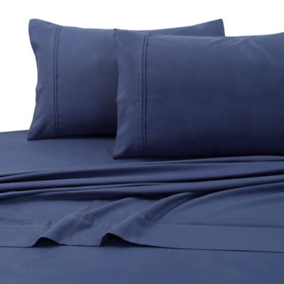 Tribeca Living 110 GSM Microfiber Extra Deep Pocket California King Sheet  Set In Moonlight Blue