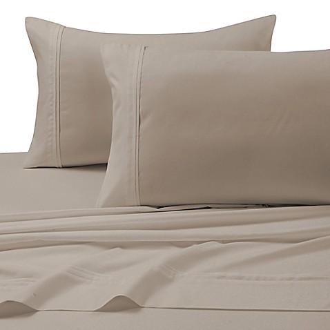 buy tribeca living 110 gsm solid microfiber extra deep pocket queen sheet set in cashmere from. Black Bedroom Furniture Sets. Home Design Ideas