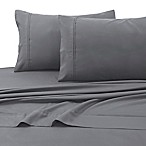 Tribeca Living 110 GSM Solid Microfiber Extra Deep Pocket Queen Sheet Set in Grey