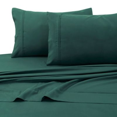 Tribeca Living 110 Gsm Solid Microfiber Extra Deep Pocket Queen Sheet Set In Teal