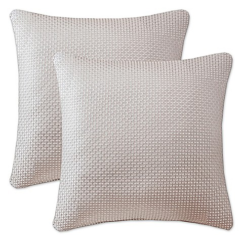 Buy Madison Park Jhene 20-Inch Square Throw Pillows in Natural (Set of 2) from Bed Bath & Beyond