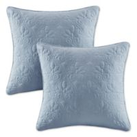 Madison Park Quebec 20-Inch Square Throw Pillows in Blue (Set of 2)