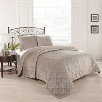 Beauty Rest® Collette Queen Coverlet Set in Taupe