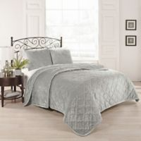 Beauty Rest® Collette King Coverlet Set in Silver