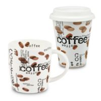 "Konitz ""Coffee"" Collage To Stay and To Go Mugs (Set of 2)"