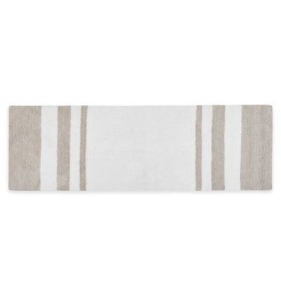 Madison Park Spa 24 Inch X 72 Bath Rug In Taupe