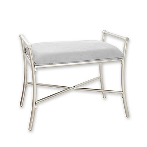 Harlow Vanity Bench In Brushed Nickel Bed Bath Amp Beyond