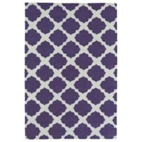 Kaleen Lily & Liam Agean Patio 2-Foot x 3-Foot Accent Rug in Purple