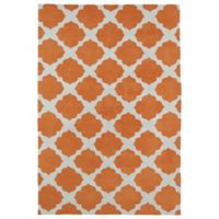Kaleen Lily & Liam Aegean Patio 3-Foot x 5-Foot Area Rug in Orange