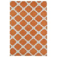 Kaleen Lily & Liam Aegean Patio 4-Foot x 6-Foot Area Rug in Orange