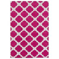 Kaleen Lily & Liam Aegean Patio 5-Foot x 7-Foot Area Rug in Pink
