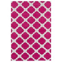 Kaleen Lily & Liam Aegean Patio 8-Foot x 10-Foot Area Rug in Pink