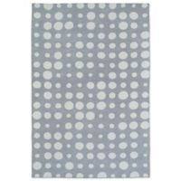 Kaleen Lily & Liam 3-Foot x 5-Foot Bubbles Accent Rug in Grey
