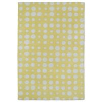 Kaleen Lily & Liam 3-Foot x 5-Foot Bubbles Accent Rug in Yellow