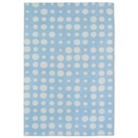 Kaleen Lily & Liam 3-Foot x 5-Foot Bubbles Accent Rug in Blue