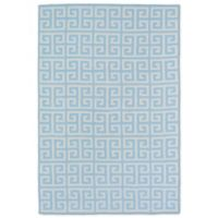 Kaleen Lily & Liam Greek Tile 2-Foot x 2-Foot Accent Rug in Blue