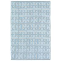 Kaleen Lily & Liam Greek Tile 3-Foot x 5-Foot Area Rug in Blue