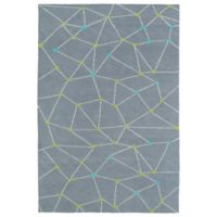Kaleen Lily & Liam 3-Foot x 5-Foot Linear Directions Accent Rug in Grey
