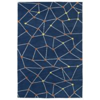 Kaleen Lily & Liam 3-Foot x 5-Foot Linear Directions Accent Rug in Denim