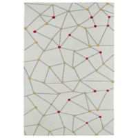 Kaleen Lily & Liam 4-Foot x 6-Foot Linear Directions Area Rug in Ivory