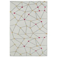 Kaleen Lily & Liam 5-Foot x 7-Foot Linear Directions Area Rug in Ivory