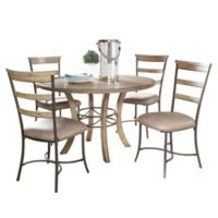 Hillsdale Charleston 5-Piece Round Dining Set with Ladder Back Chairs