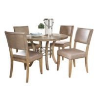 Hillsdale Charleston 5-Piece Round Dining Set with Parson Chairs