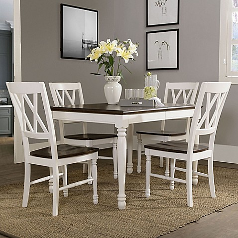 Crosley Furniture Shelby 5 Piece Dining Set In White