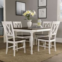 Crosley Furniture Shelby 5-Piece Dining Set in White