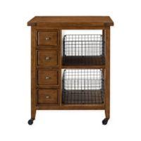 Crosley Furniture Sienna Kitchen Cart in Moroccan Pine