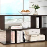 Baxton Studios Goodwin 2-Level Bookcase in Dark Brown