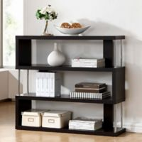 Baxton Studio Barnes 3-Shelf Bookcase in Dark Brown