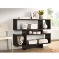 Baxton Studio Cassidy 4-Level Bookshelf in Dark Brown