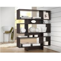 Baxton Studio Cassidy 6-Level Bookshelf in Dark Brown