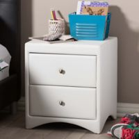 Baxton Studio Dorian Nightstand in White