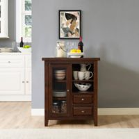 Crosley Furniture Sienna Accent Cabinet in Rust Mahogany