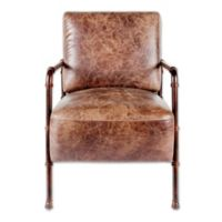 Moe's Home Collection Livingston Lounge Chair in Brown