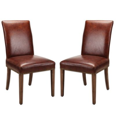 moeu0027s home collection parson chairs in brown set of