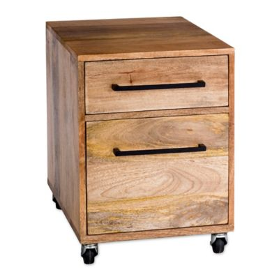 moeu0027s home collection colvin pedestal mobile filing cabinet in natural - Small Filing Cabinet