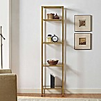 Crosley Aimee Narrow Etagere in Gold