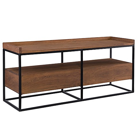 image of Moe's Home Collection Vancouver TV Stand in Light Brown