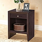 Baxton Studio Leelanau Nightstand in Dark Brown