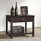 Baxton Studio Nashua Nightstand in Dark Brown