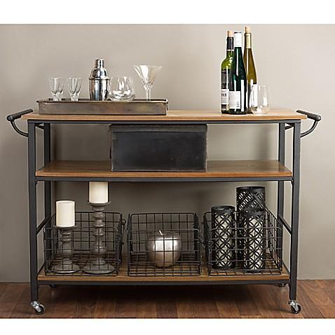 Baxton studio lancashire kitchen cart bed bath beyond - Bed bath beyond kitchen ...