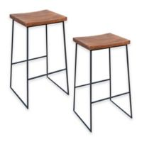 Moe`s Home Collection Bar Stools in Light Brown (Set of 2)