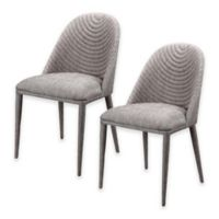 Moe's Home Collection Libby Dining Chair in Grey (Set of 2)